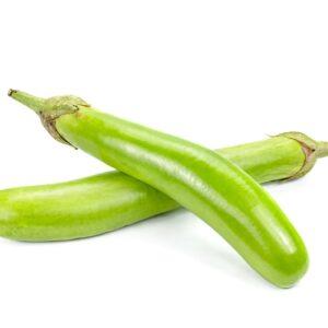 Green Brinjal Seeds (Long)